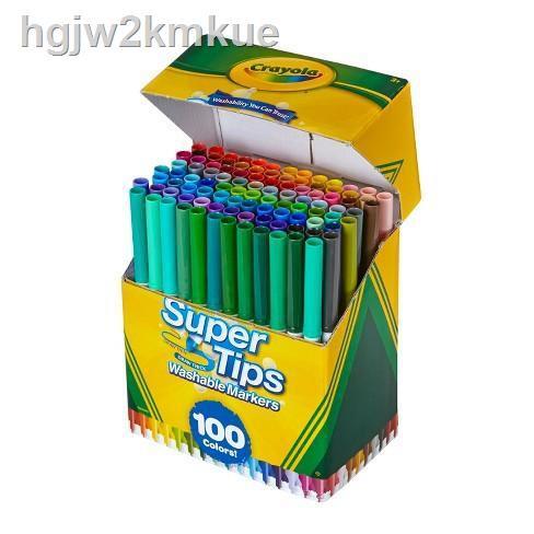 【ลดราคา】☄Crayola Supertips 100 สี