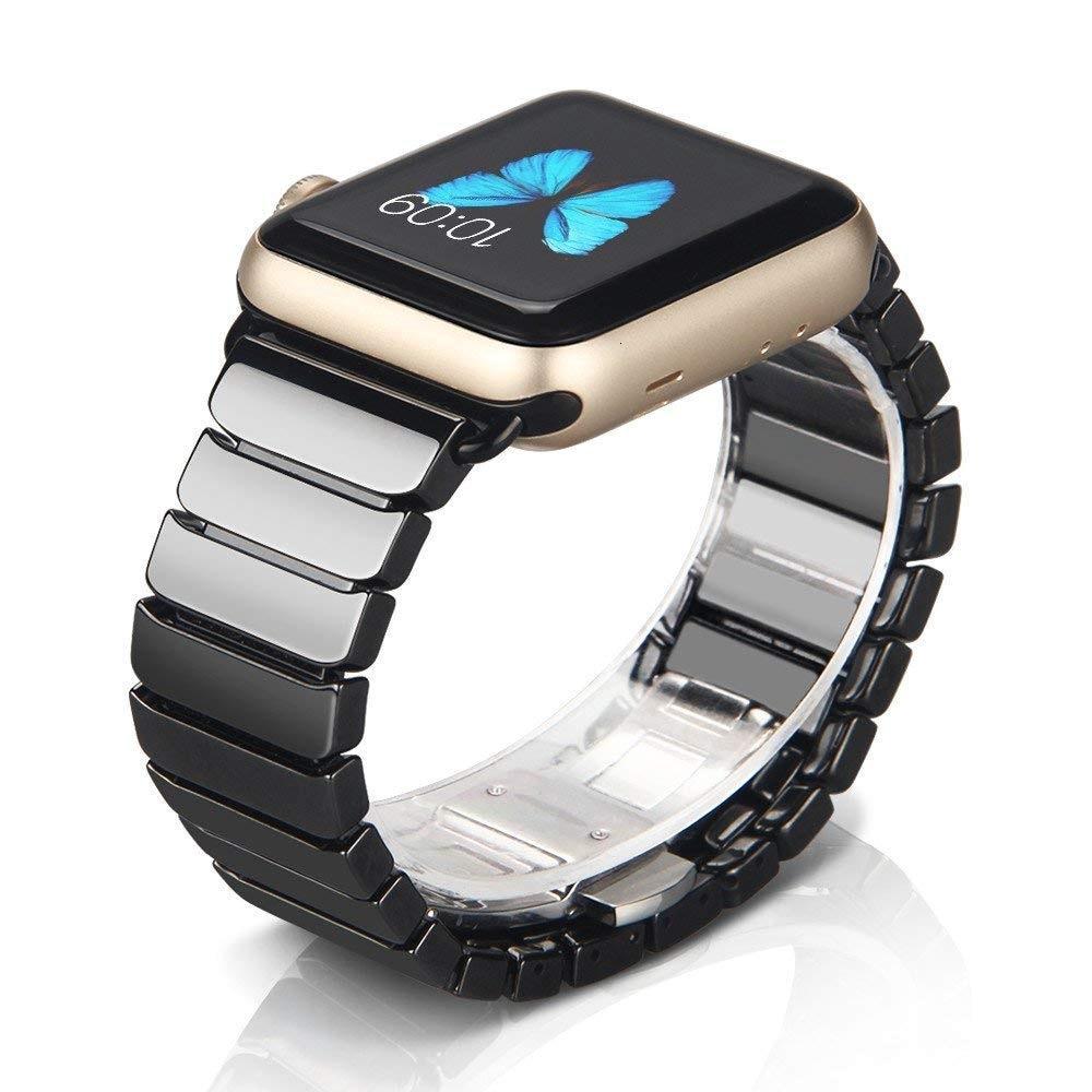 สายนาฬิกาข้อมือเซรามิกสําหรับ Apple Watch Band 44 มม 42 มม Iwatch Series 5 4 3 40 มม 38 มม