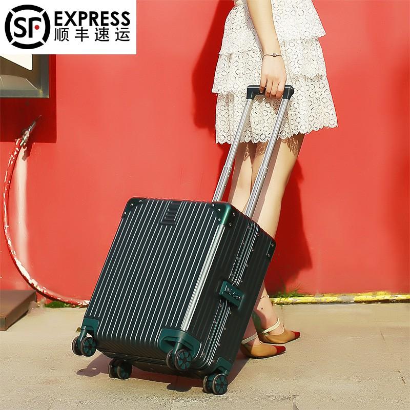 กระเป๋าเดินทาง 20 นิ้วหญิง 18 นิ้วขนาดเล็กน้ำหนักเบามินิกระเป๋าเดินทางรถเข็นกระเป๋าเดินทาง 16 นิ้วชายโครงอลูมิเนียมทรัมเ