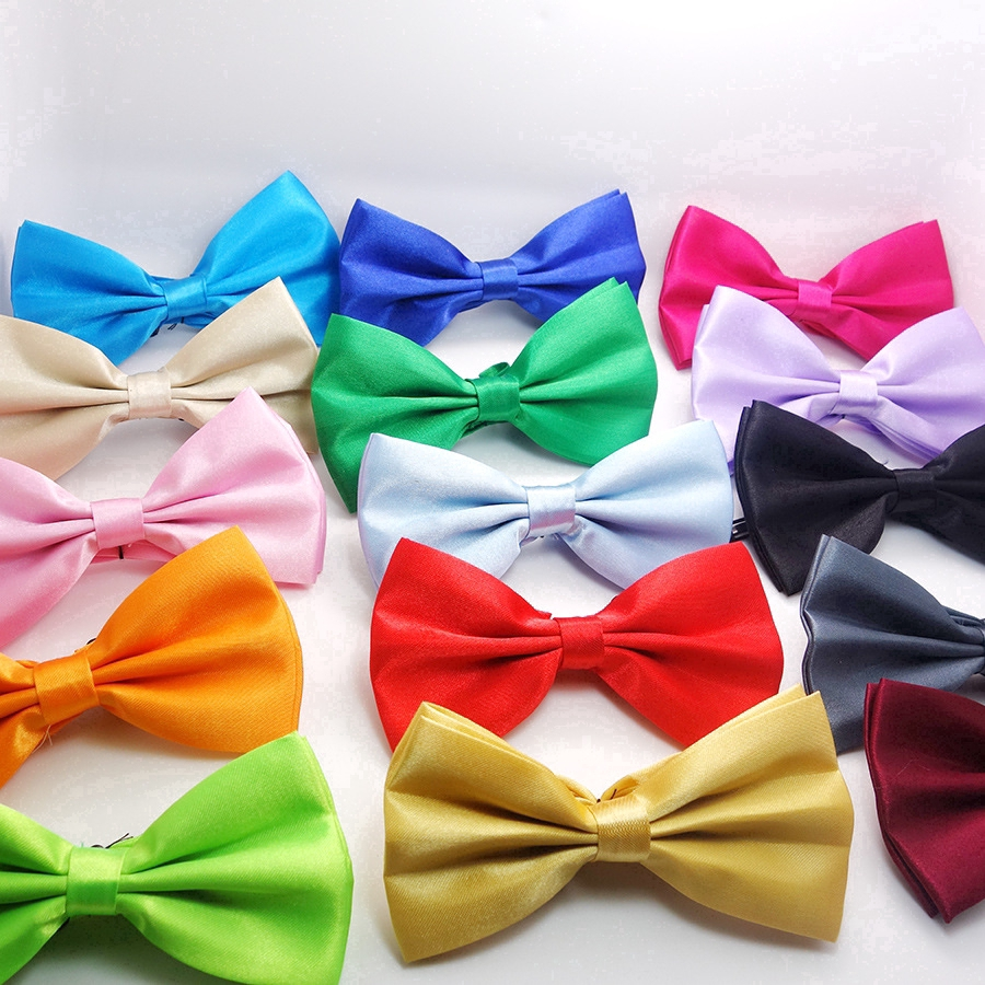 Pre-tied Satin Bow Ties BRAND NEW!! 10//set