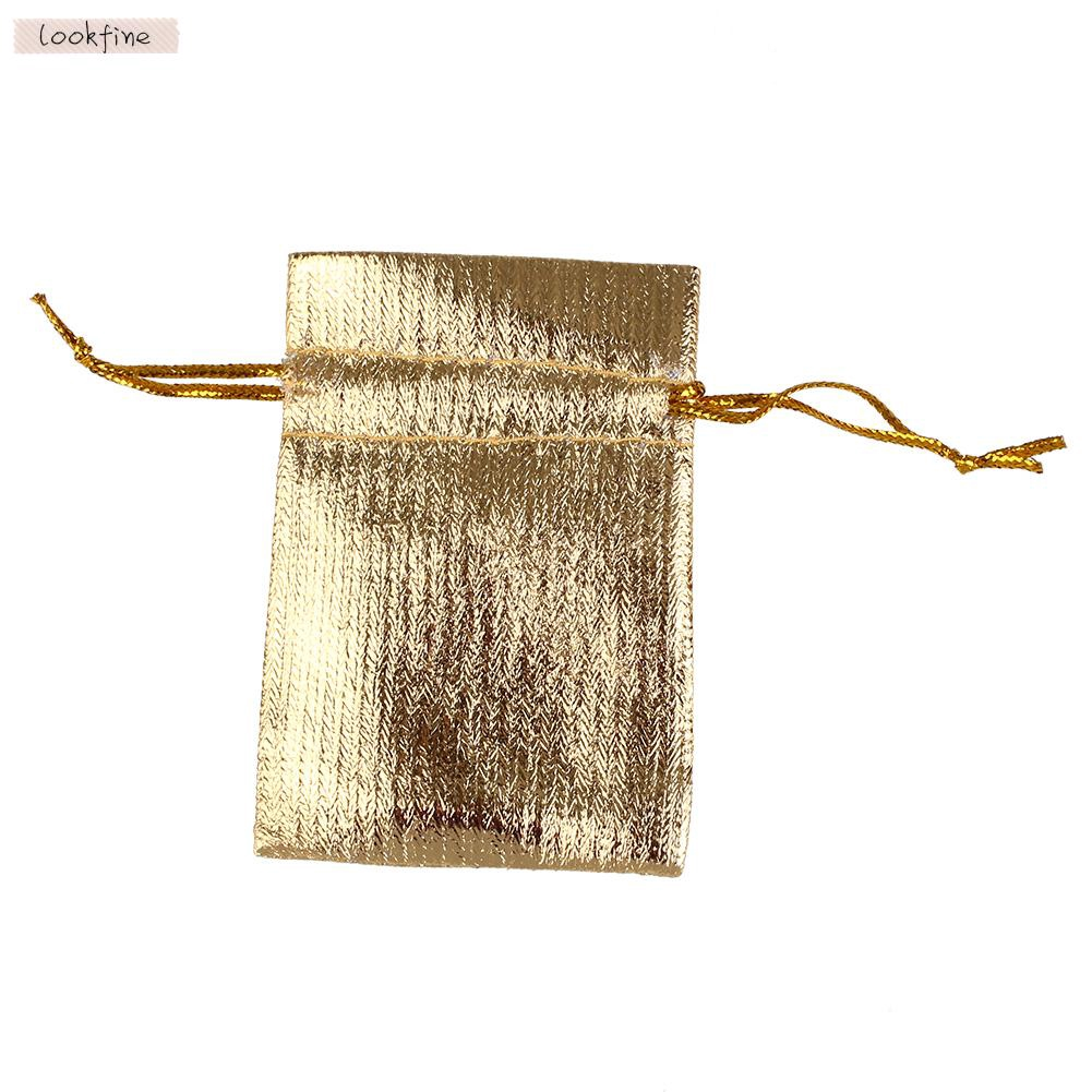 Gold Silver Wedding Gift Bags Jewellery Pouches For Jewelry Packaging  Storage