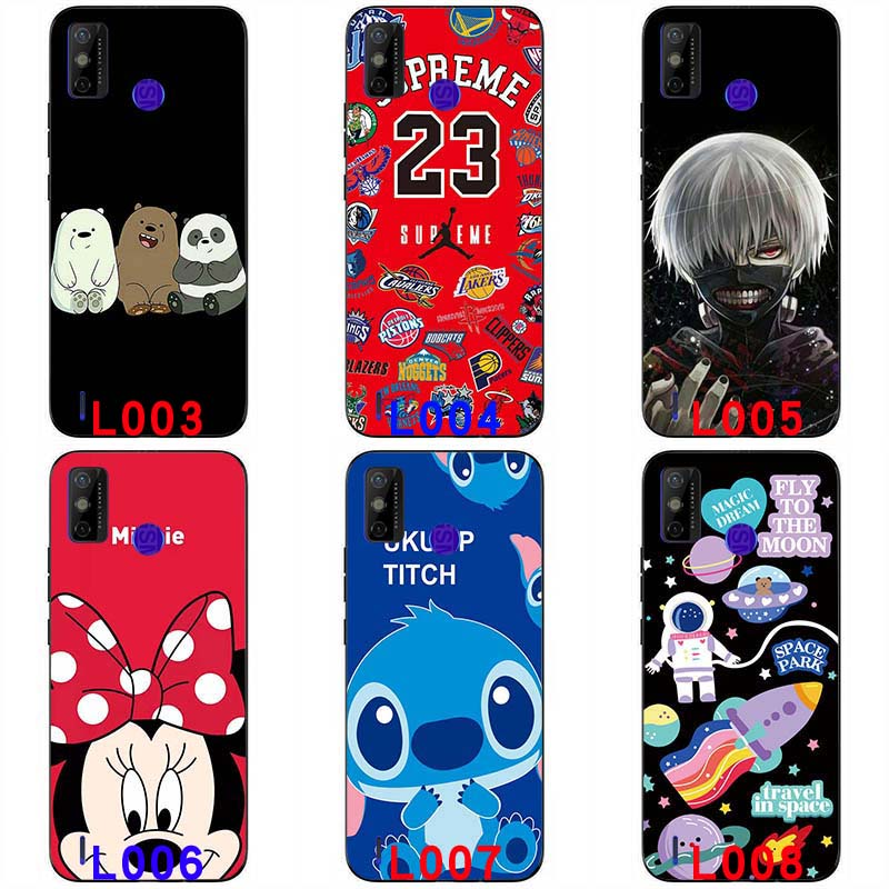 Soft silicone painted print case soft TPU Back cover Protective shell Colorful Cartoon Pattern Anime For Tecno Spark 6 GO 6.52 '' soft casing handphone case