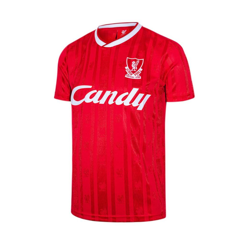 LIVERPOOL FOOTBALL CLUB เสื้อแข่งย้อนยุคทีมลิเวอร์พูล Retro Candy ชุดเหย้า 1989