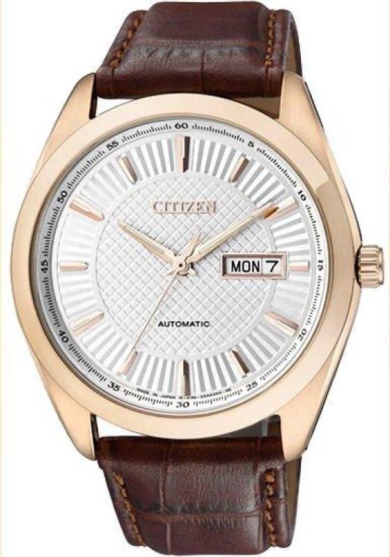 นาฬิกาข้อมือผู้ชาย Citizen Automatic Men's Mechanical Brown Leather รุ่น NP4013-06A