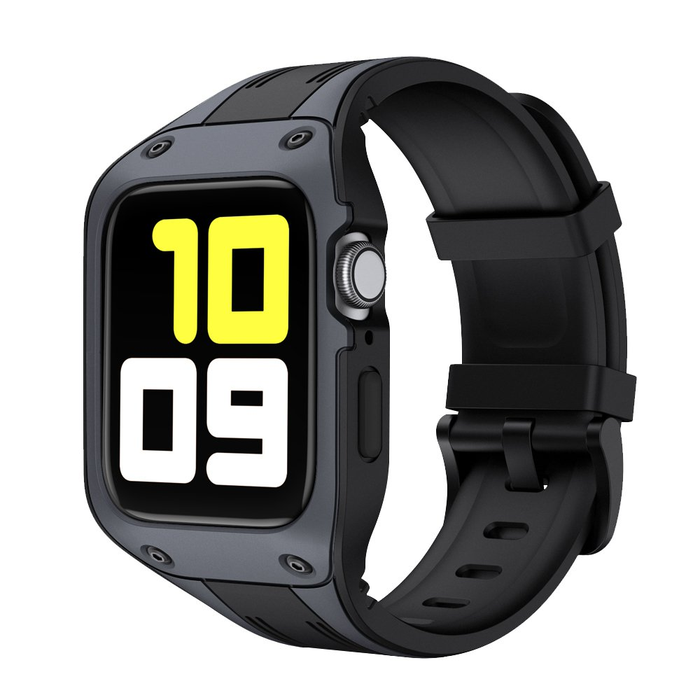 Sport Silicone With protective Cover Case Band For Apple Watch 42mm 44mm Strap iWatch Series 2 3 4 5 6 Band Silicone Wri