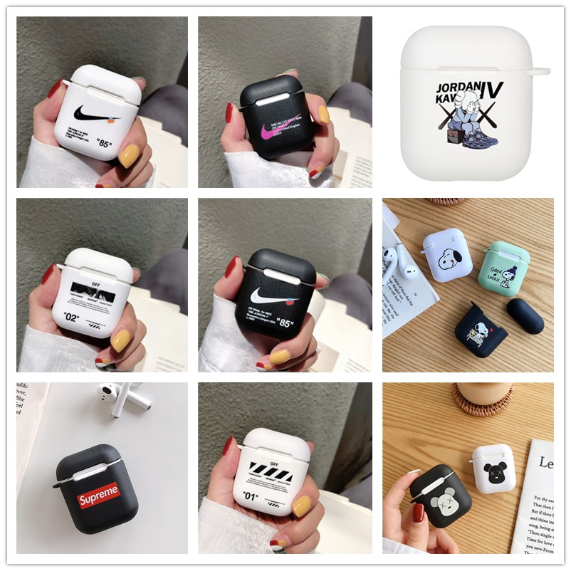 Apple AirPods Case airpods Covers Soft Case AirPods 2 Earphone case Kaws Snoopy Nike OFF WHITE