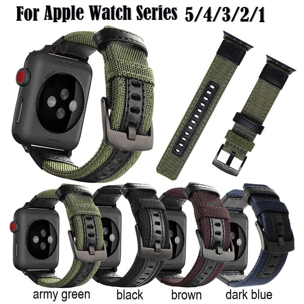 สาย applewatch สายนาฬิกา Apple Watch Strong Durable ไนลอน สาย applewatch Series 6 5 4 3 2 1,Apple Watch SE iwatch สายนาฬ
