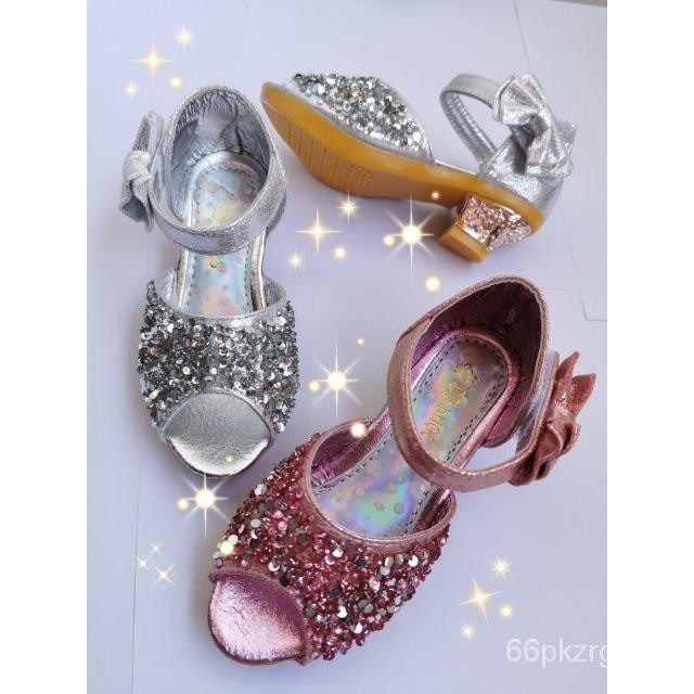 รองเท้าเด็ก รองเท้าผู้หญิงรองเท้าส้นสูงเด็กA (+เพิ่มจากรองเท้า นร.1-2size) คัชชูเจ้าหญิง รองเท้าเด็กใส่ออกงาน กากเพ
