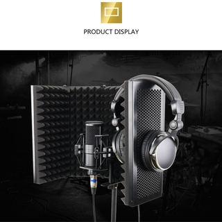 2021 Microphone Accessories Acoustic Isolation Shield Acoustic Foams Panel Studio For Recording Live Broadcast Easy Inst