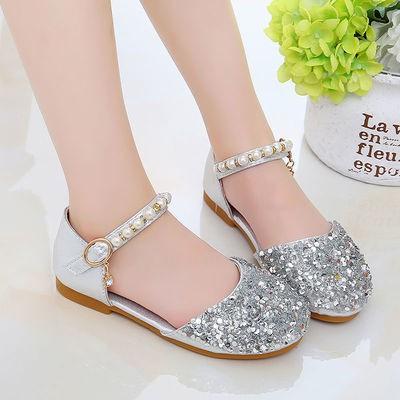 💕 องเท้าคัชชูเด็กผู้หญิง  คัชชูเจ้าหญิง รองเท้าเด็กใส่ออกงาน กากเพชร แตะ