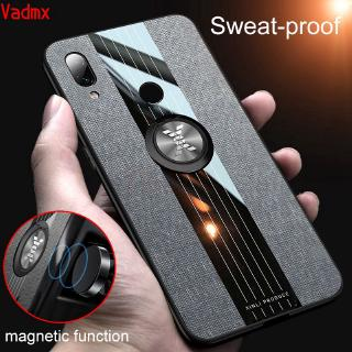 Review Xiaomi Mi 9T Pro Redmi K20 7 Note 7 5 Pro Plus Case Magnetic Finger Ring Holder Fabric Cloth Soft Frame Hard Back Cover