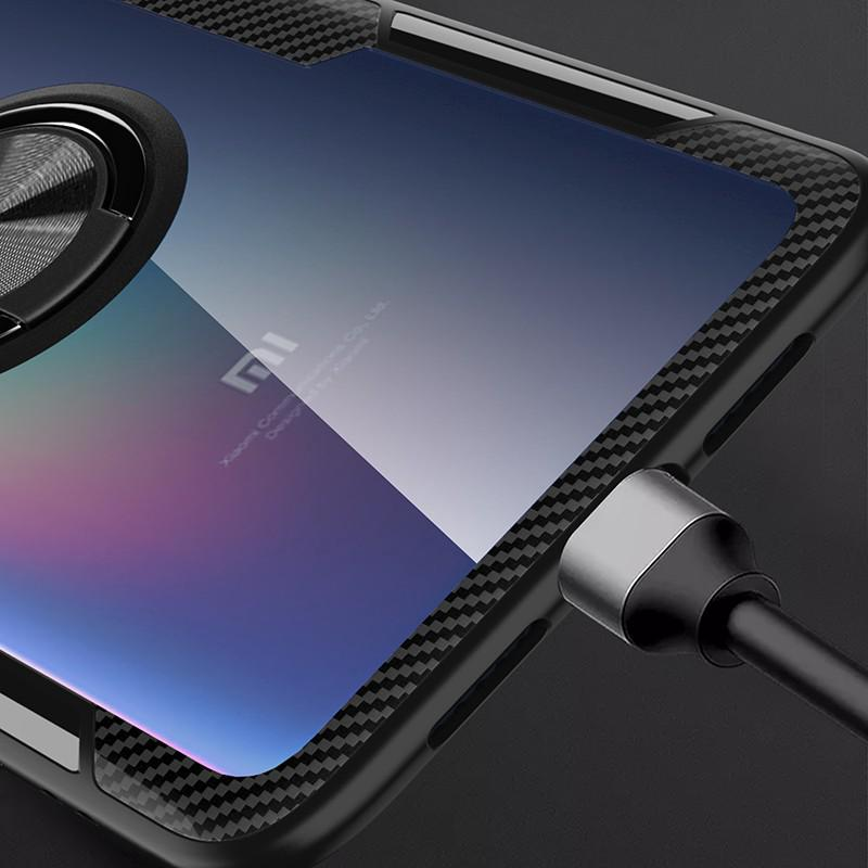 Image # 5 of Review Xiaomi Mi 9 Case Mi9 SE Case Shockproof Armor Tough Transparent Magnetic Ring Stand Hard Cover