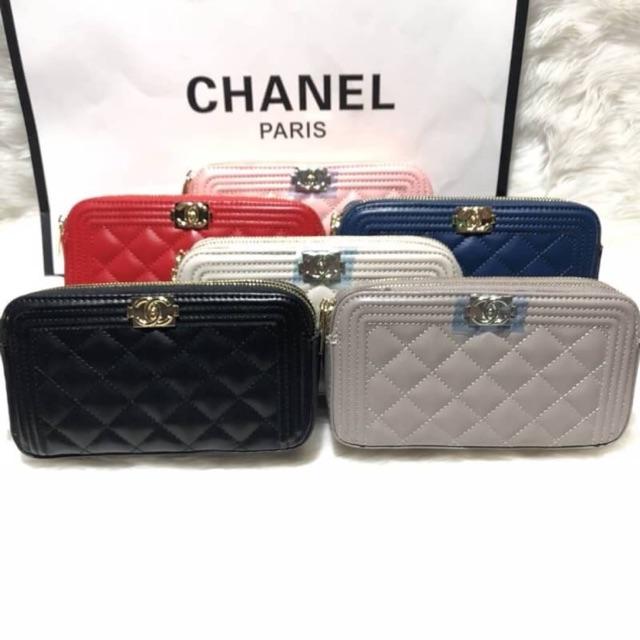 🍒กระเป๋า*Chanel 2ซิป(หน้า boyแลมป์)พร้อมส่ง🍒