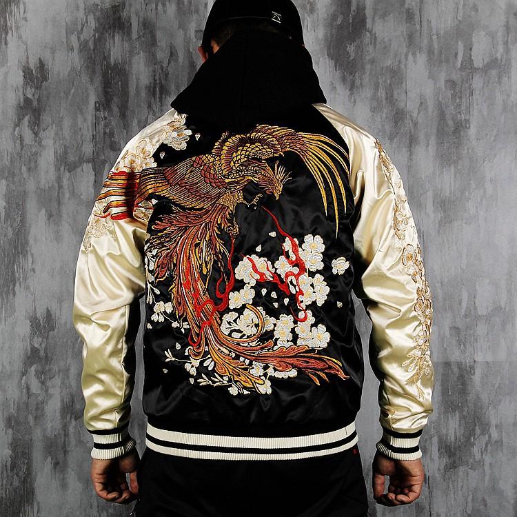 SUKAJAN พรีเมียมเกรด Japanese Souvenir Jacket  แจ็คเกตซูกาจันลาย  PHENIX