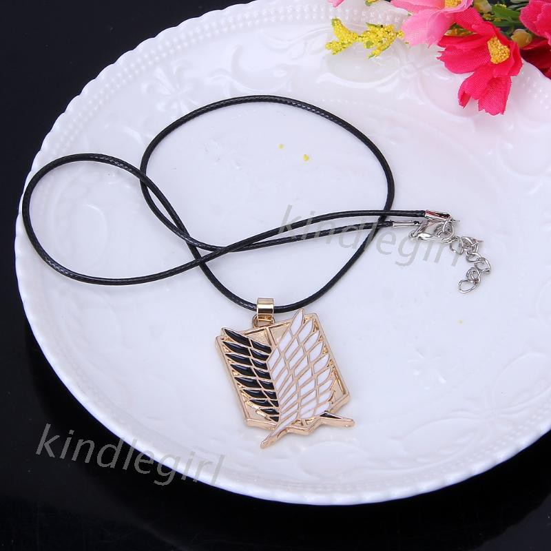 W-ings of Freedom T-itanium Cosplay Pendant Necklace Men A-ttack on Titan Jewelry Necklace