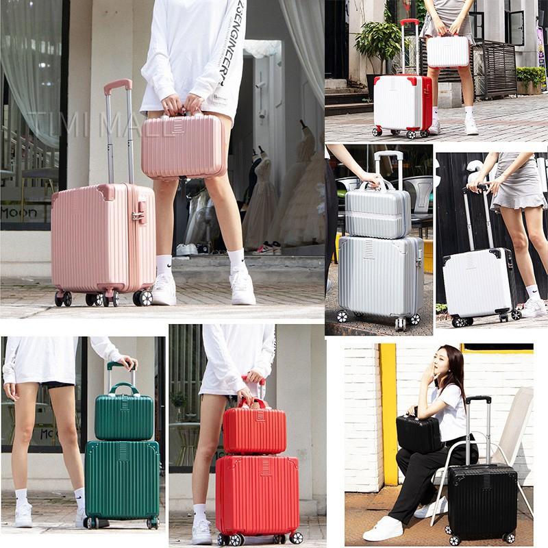กระเป๋าเดินทาง 18 นิ้ว กระเป๋าเดินทางล้อลาก 18 นิ้ว travel luggage bag ABS+PC ผ้าคลุมกระเป๋าเดินทาง 18 นิ้ว suitcase
