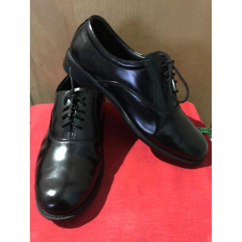 ZAN รองเท้าหนังแท้สีดำ คัชชูผู้ชาย ผูกเชือก  (มือสอง)