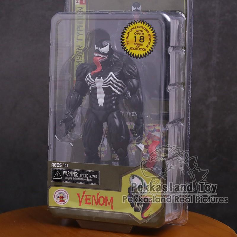 ☍◙NECA Legends Venom PVC Action Figure ของเล่นสะสม 18 ซม.