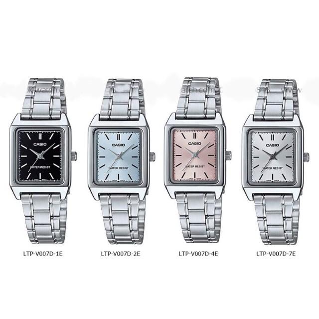 Casio ของแท้ 100% นาฬิกาผู้หญิง สายสแตนเลส รุ่น LTP-V007D พร้อมกล่องและรับปนาฬิกา casio ผู้หญิงนาฬิกา casio ชาย