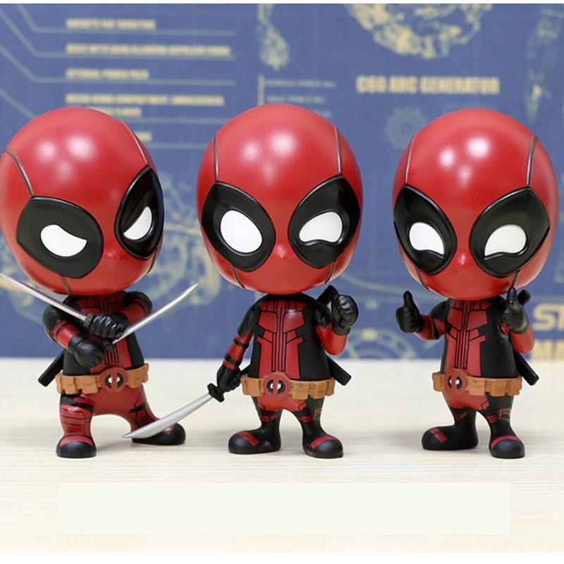Marvel Superhero Deadpool Cute Mini PVC Figure Toy New In Box