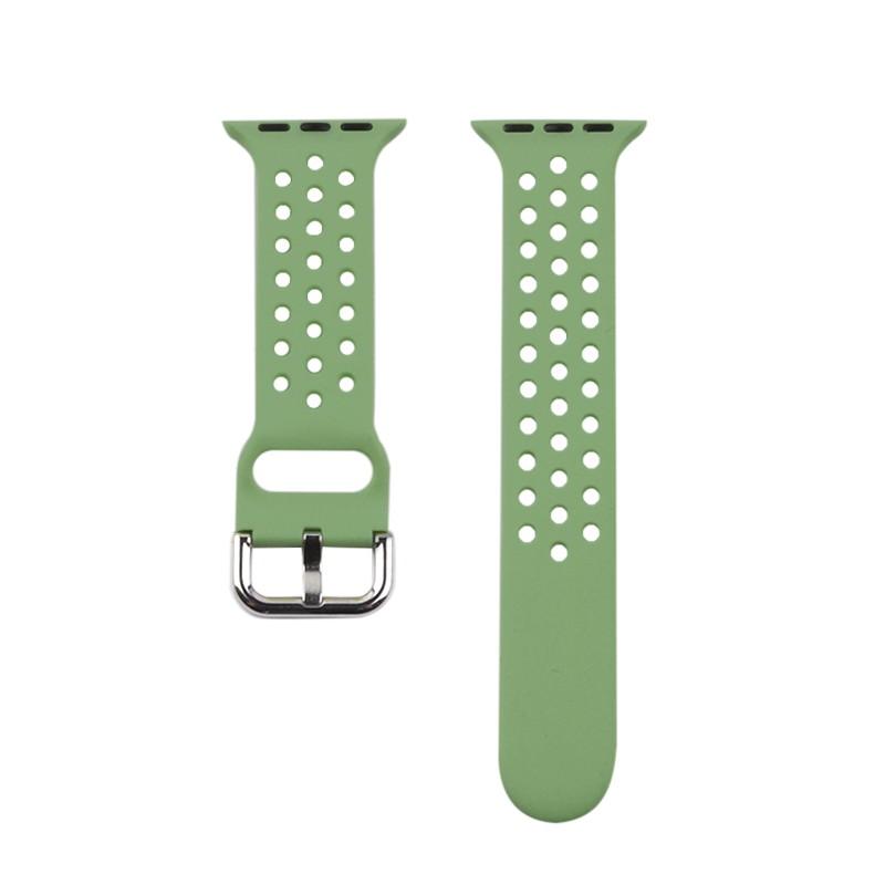 สาย applewatch▲❅◘iserisewatch เหมาะสำหรับ applewatch6 สาย Apple Watch รุ่นที่ 5 บุคลิกภาพอินเทรนด์ระบายอากาศ iwatchSE