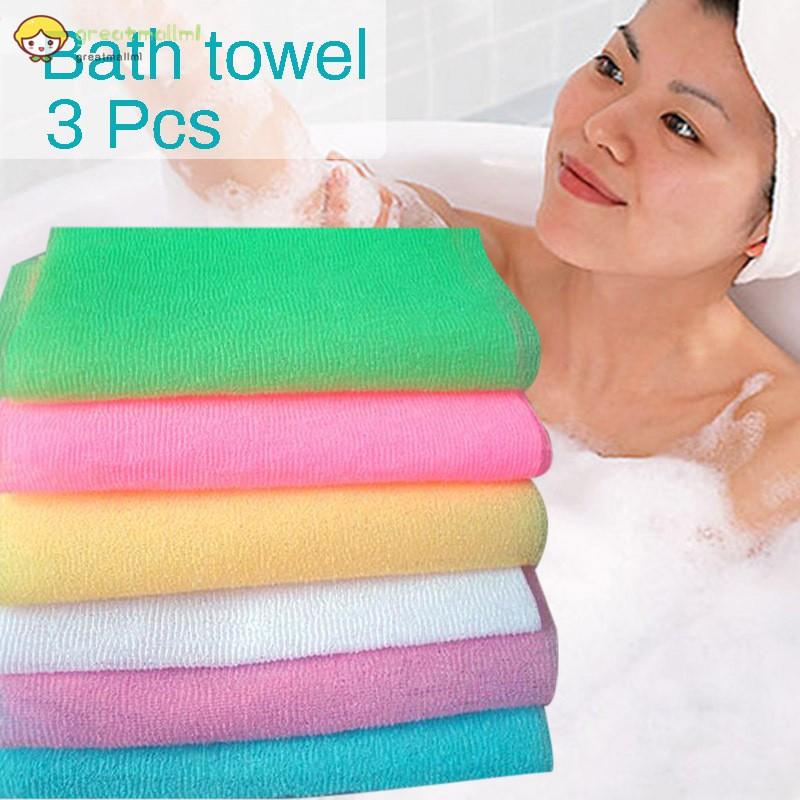 Puff Nylon Body Mesh Bath Shower Nylon Wash Cloth Scrubbing Towel Bath Towel