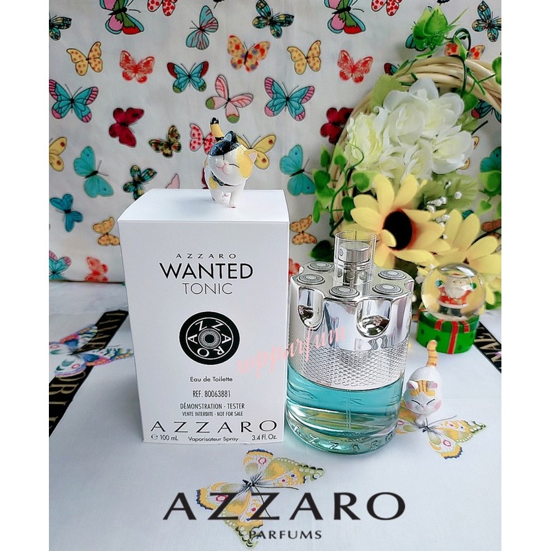 Azzaro Wanted Tonic Edt For Men 100 ml.  ( Tester Box )