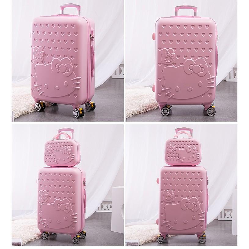 กระเป๋าเดินทางล้อลากลายการ์ตูนคิตตี้ขนาด 24 นิ้ว