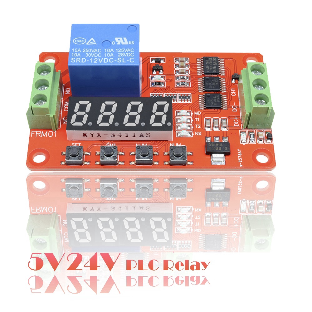 5V//24V Relay Cycle Timer Module PLC Home Automation Delay Multifunction Clock