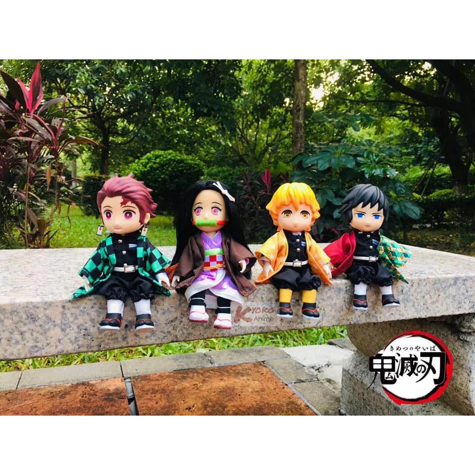 Figure doll บรายดอล ปรับท่าทางได้ anime อนิเมะ Kimetsu No Yaiba Tanjiro nezuko zenitsu giyu shinobu ทันจิโร่ เนสึโกะ กิย