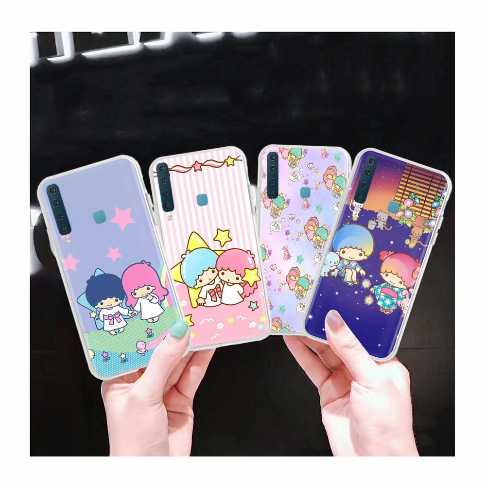 AT70 Little Twin Star Transparent Case for Samsung Galaxy Note 8 A6 Plus A8 Star A9 Pro