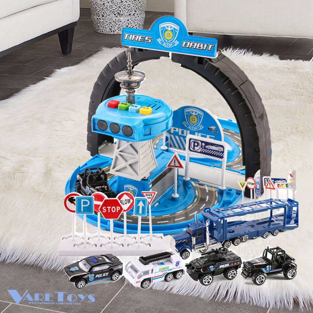 ชุดหอควบคุมของเล่น สนามแข่งรถ รถฉุกเฉิน รถก่อสร้าง รถวิศวกร รถช่าง รถตำรวจ รถของเล่น