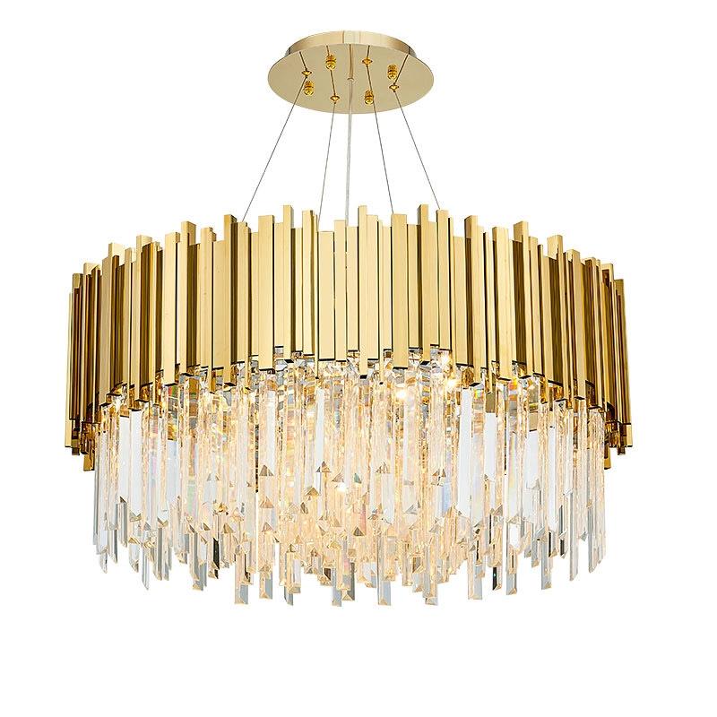 หลังจากการเสนอราคา, โคมระย้าคริสตัลสีทองที่ทันสมัยแสงอลูมิเนียมที่เรียบง่ายแสงวิลล่าห้องรับประทานอาหารห้องนั่งเล่นโคมไฟว