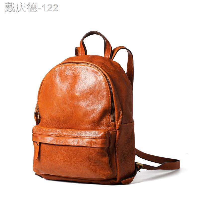BFS หนังกระเป๋าเป้สะพายหลังหญิงกระเป๋าใบเล็กน้ำแบรนด์ ins ป่า ท่องเที่ยว ที่เดินทางมาพักผ่อนซุปเปอร์ไฟหนังกระเป๋าเป้สะพา