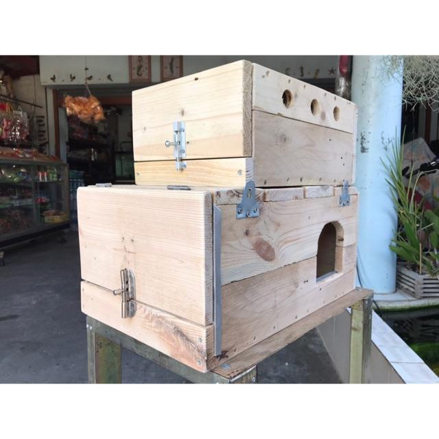 บ้านเพาะนก รังนก กล่องนกและซูการ์  โดนน้ำได้ล้างได้. ไม่บวม ไม่ผุ