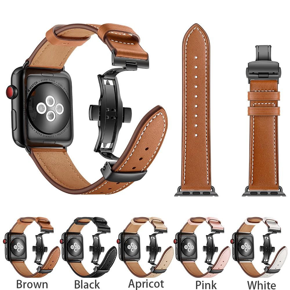 สายคล้องหนัง Apple Watch Series6 / SE / 5 / 4 / 3 / 2 / 1 strap 38 / 42 มม.
