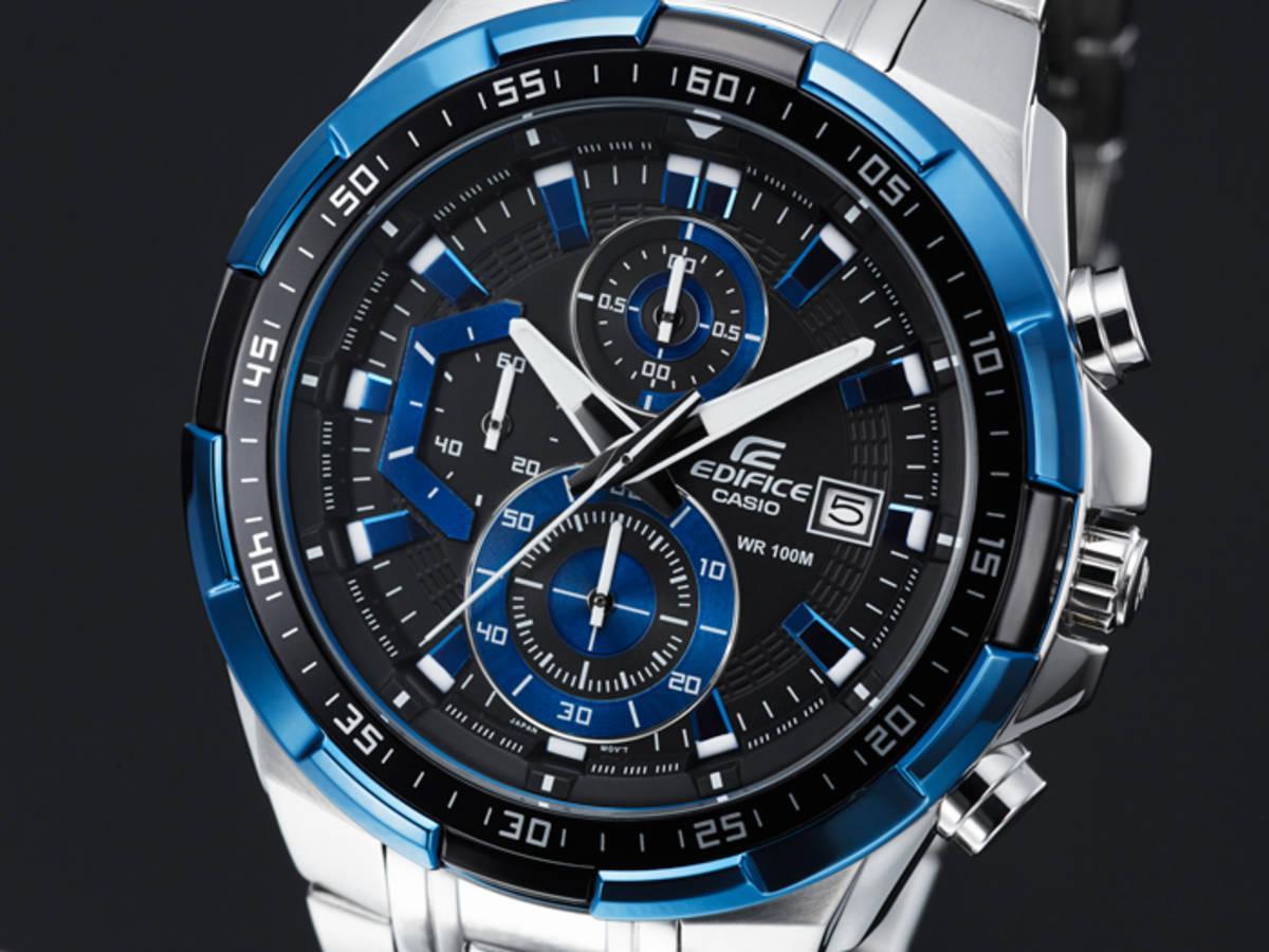 Casio Edifice รุ่น EFR-539D-1A2V สินค้าขายดี นาฬิกาข้อมือผู้ชาย สายสแตนเลส Men's Watch จัดส่งฟรี 4fxU