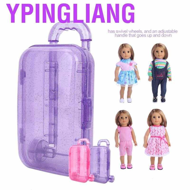 Ypingliang กระเป๋าเดินทางขนาด 18 นิ้วสําหรับตุ๊กตา