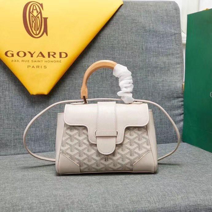 ➰เป็นที่นิยมมากที่สุด Goyard mini Saigon bag 21cm canvas face women handbag/crossbody bag