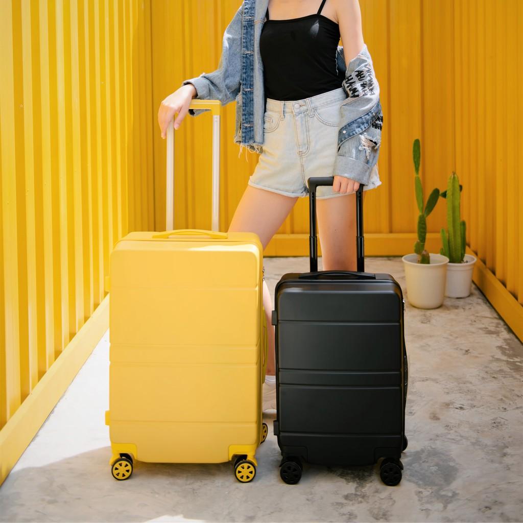 iluTpartner [ใหม่] กระเป๋าเดินทาง ขนาด 20 กับ 24นิ้ว กระเป๋าเดินทางล้อลาก รุ่น Lite Series เฟรมซิป วัสดุ ABS+PC espK