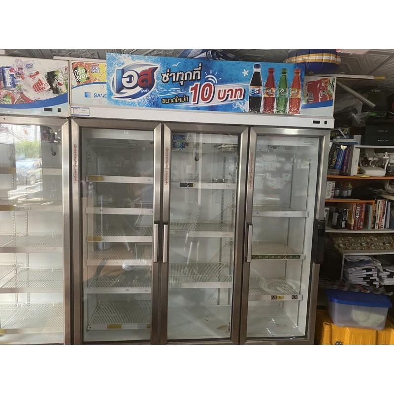 ตู้แช่เย็น ตู้แช่เบียร์ตู้แช่ร้านขายของชำ 3ประตู (มือสอง) มือ2