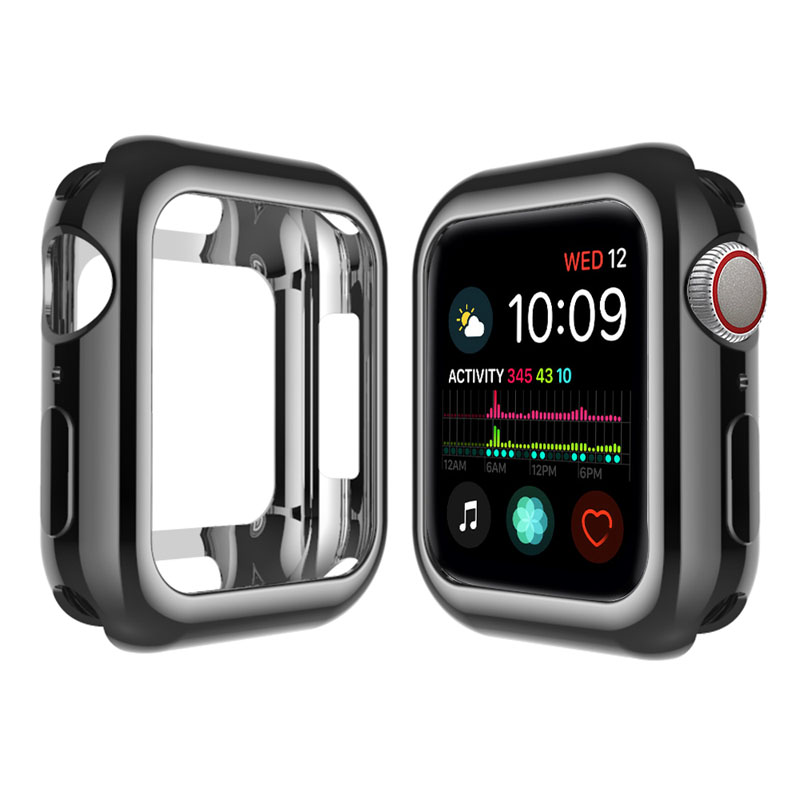 iWatch Electroplated Case Apple Watch Series 5/4/3/2/1 38mm 40mm 42mm 44mm Soft Slim Protective Cover