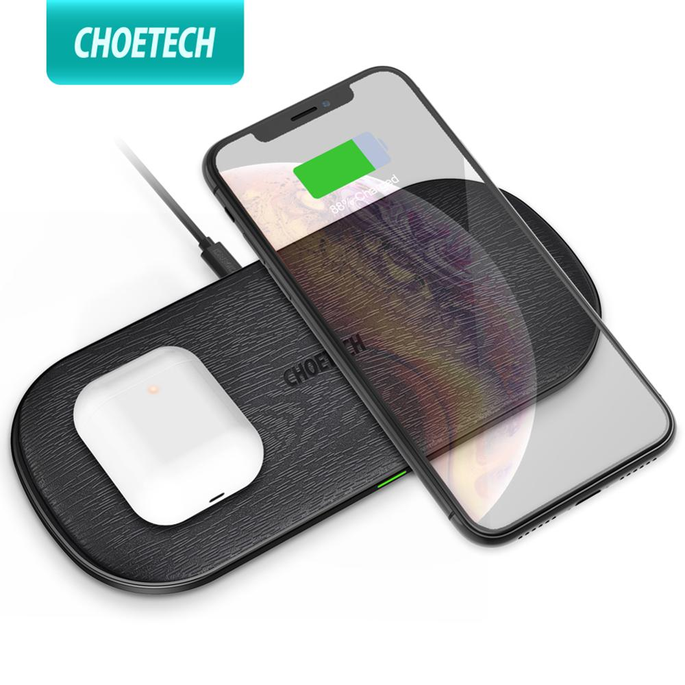 Choetech Qi แท่นชาร์จไร้สาย 18 W 5 Coils สําหรับ Iphone12 X Max 8