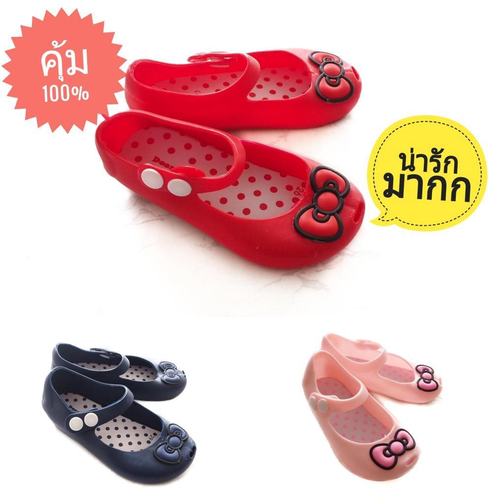 Sustainable รองเท้าเด็กผู้หญิงลายโบว์ คัชชูเด็ก รองเท้าคัชชูเด็ก รองเท้าเด็กผู้หญิง รองเท้าเด็กลายการ์ตูน รองเท้าเจ้าหญิ