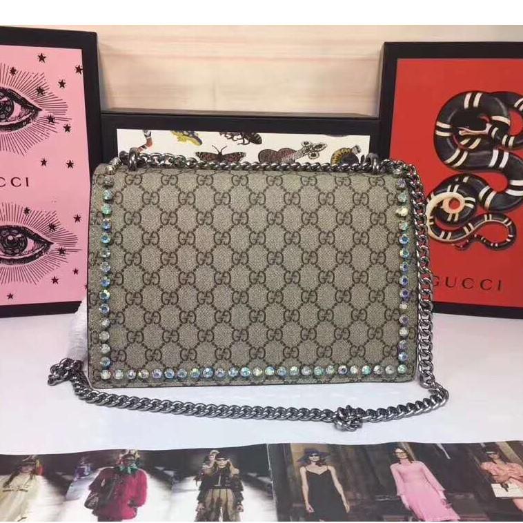 ¤☌♈ของแท้ Dionysus Diamond Series Symphony Rhinestone Bacchus Bag 400249 Gucci Ladies Chain Shoulder