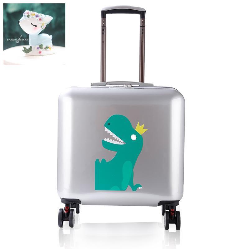 กระเป๋าล้อสากลหญิงรถเข็นการ์ตูน 18 นิ้วกระเป๋าเดินทางขนาดเล็ก 16 นิ้วนักศึกษาวิทยาลัยมินิบอร์ดกรณีกระเป๋าเดินทาง ชาย