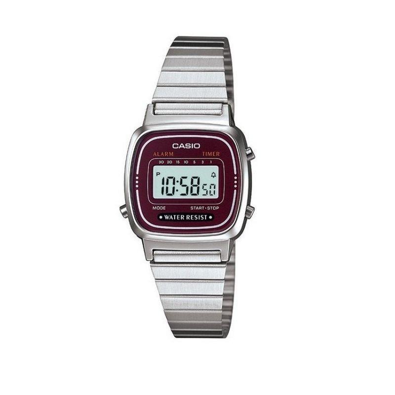 นาฬิกาคาสิโอของแท้ Casio นาฬิกาข้อมือผู้หญิง สายสแตนเลส รุ่น LA670WA- สีเงิน