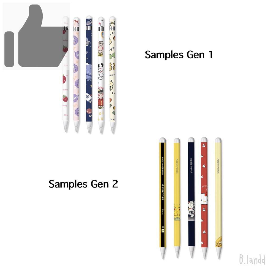 №✲﹍B.landd✨ ฟิล์มปากกาสำหรับ applepencil sticker รุ่นที่1/2 น่ารักๆ พร้อมโปรโมชั่น3แถม1[1]