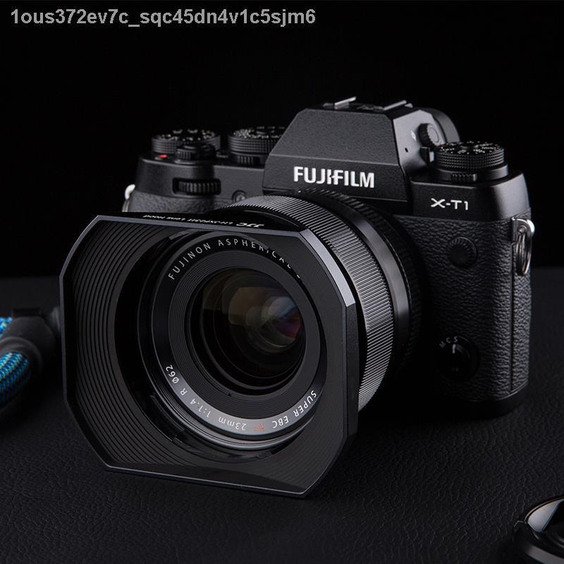 ◙◑JJC เหมาะสำหรับ Fuji LH-XF23 ฮูด XF 23 มม. f1.4 เลนส์ 56 F1.2 R / XF56mm กล้อง APD XT30 XT3 XT20 โลหะสี่เหลี่ยม 62