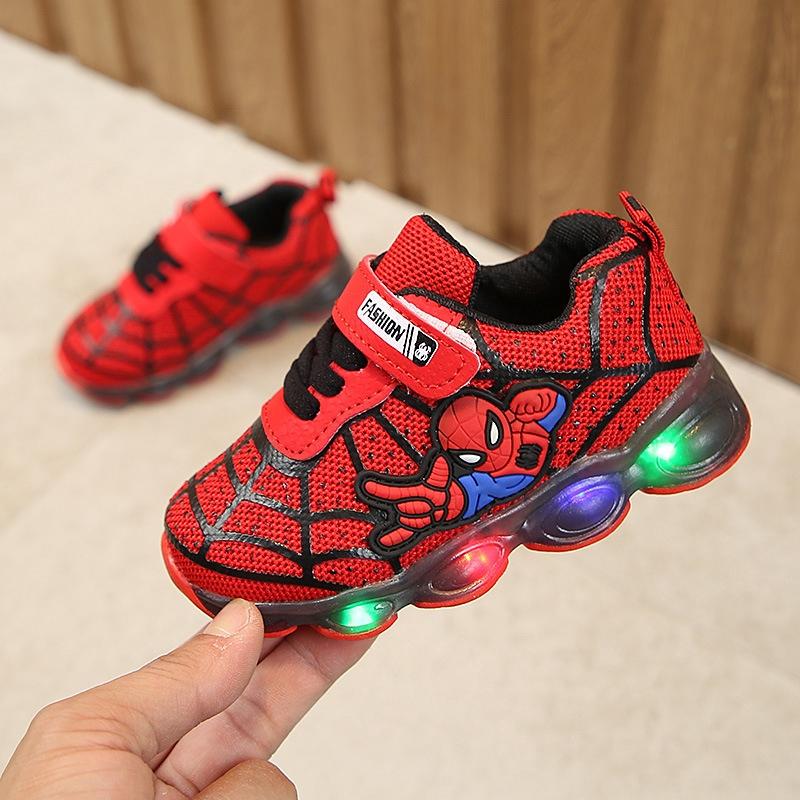 YICO 🎉LED ผู้ชายและผู้หญิงรองเท้าเด็กรองเท้ารองเท้ารองเท้าสีขาวสำหรั